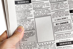 How to place a Classified Ad in the Newspaper or online